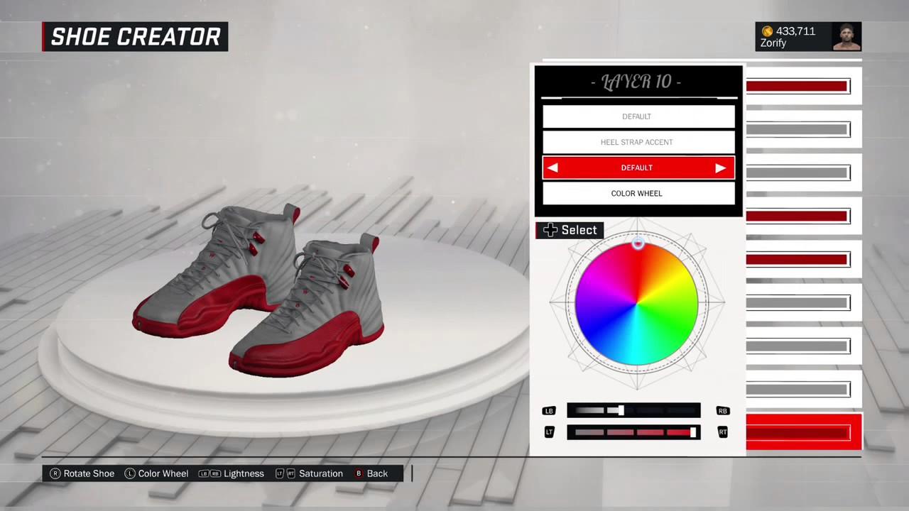 NBA 2K17 Shoe Creator - Air Jordan 12