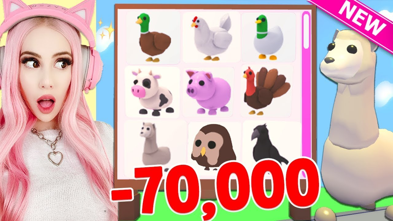 I Spent 70 000 Robux To Get All The New Farm Pets In Adopt Me Brand New Farm Egg Update Adopt Me Youtube