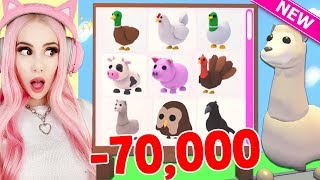 I SPENT 70,000 ROBUX TO GET ALL THE NEW FARM PETS IN ADOPT ME! Brand New Farm Egg Update Adopt Me