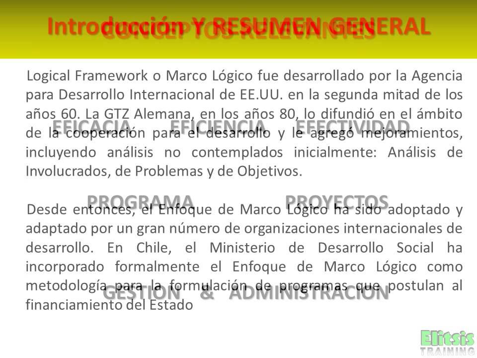 Clase 1 Introduccion Enfoque de Marco Lógico - YouTube