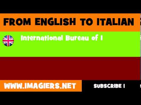 How to say International Bureau of Education in Italian