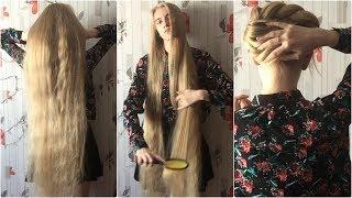 Nearly Scrumptious Super Long Blonde Hair Brushing, Playing - ASMR (Preview)