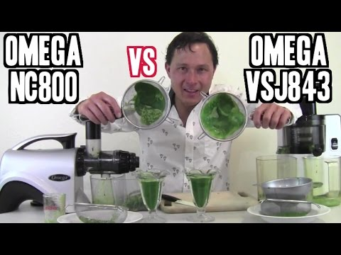 Omega VSJ843 vs Omega NC800 - Best Juicer for Green Juice Review