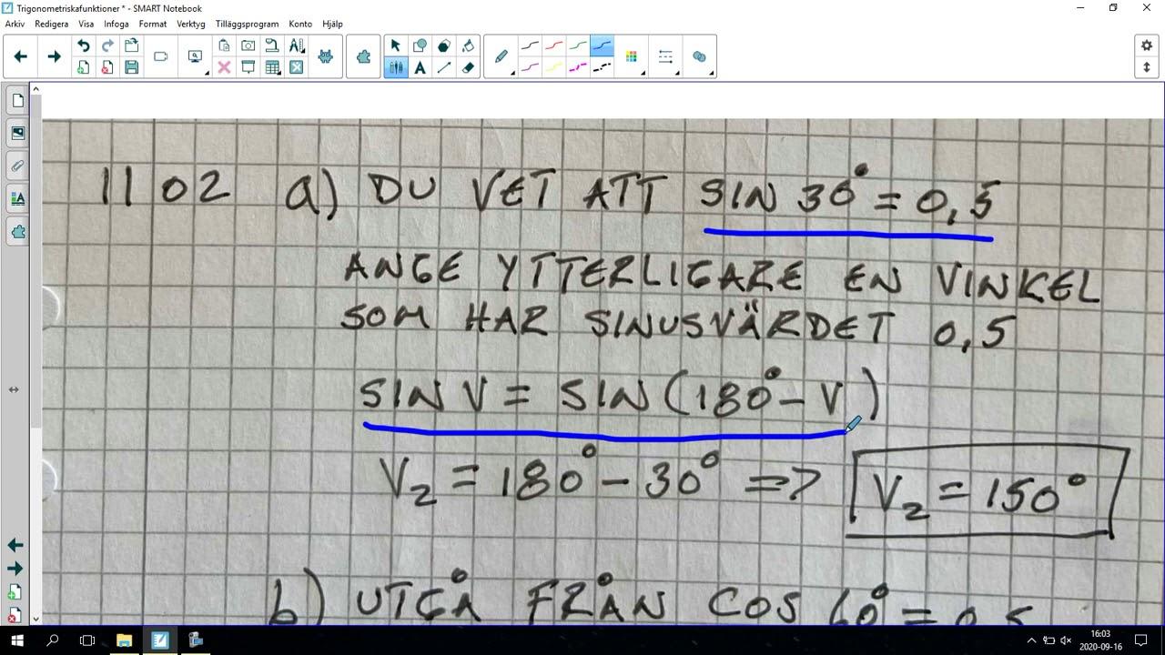 116. Trigonometriska funktioner 2