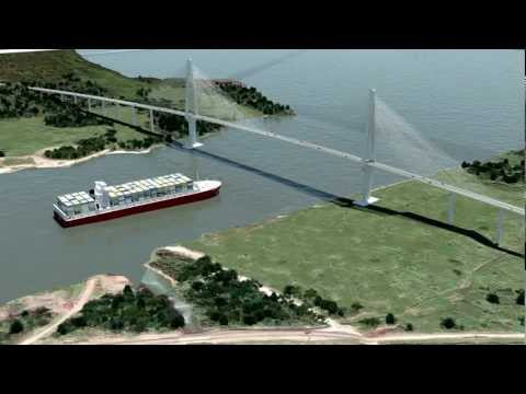 Panama Canal Bridge Visualization