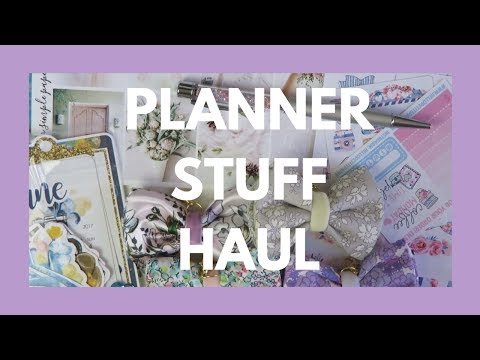 PLANNER SUPPLIES HAUL // Stickers, Papers, Charms, and More!