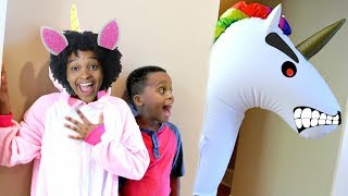 GIANT Unicorn vs Shiloh and Shasha!- Subscribe for more funny video...