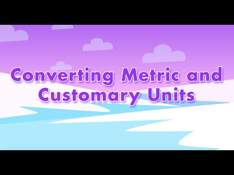 Converting Metric and Customary Units