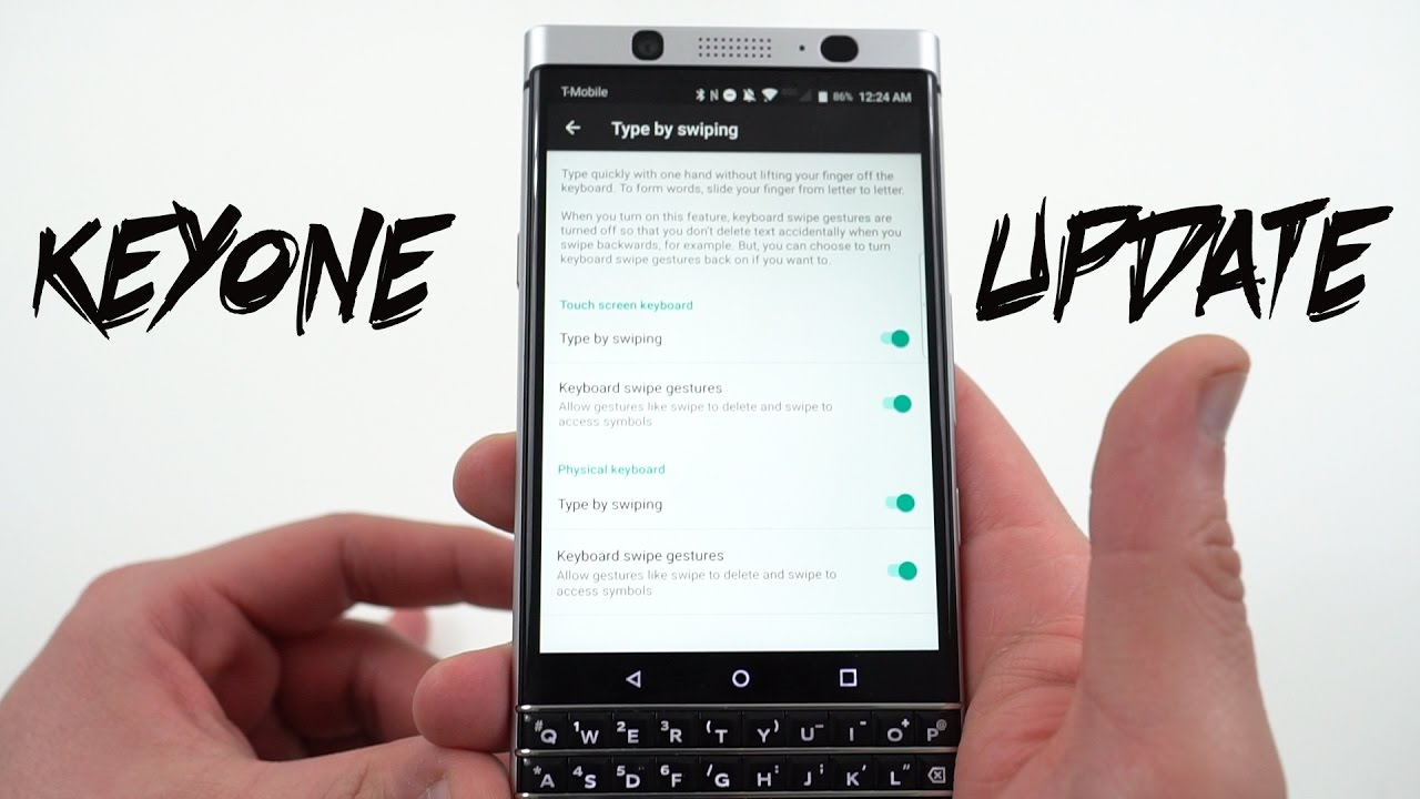 Blackberry Keyone Keyboard Update Problems Resolved Youtube