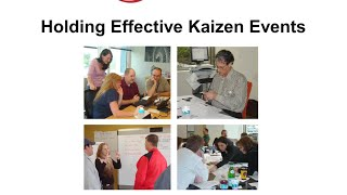 Holding Effective Kaizen Events
