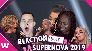 Latvia Supernova 2019 Reactions (Part I) | Markus Riva, Samanta Tina and more