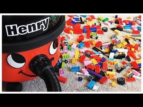 HENRY HOOVER Gobbles Up the LEGO BLOCKS!!!