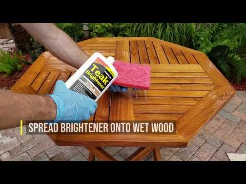 How to Clean and Oil Any Teak Furniture in 3 Steps (Chair & Table)