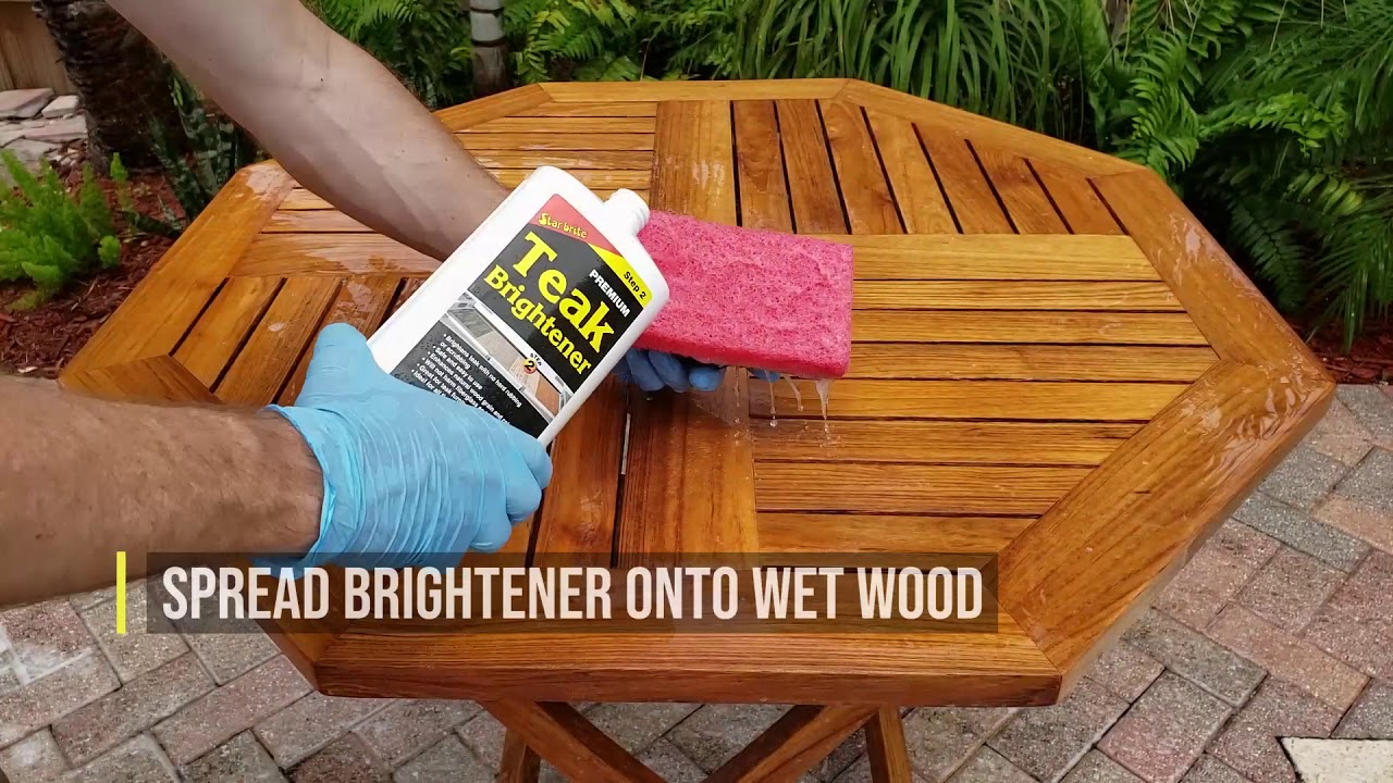 Teak Oil Outdoor Furniture Restoration And Application By Star Brite Youtube