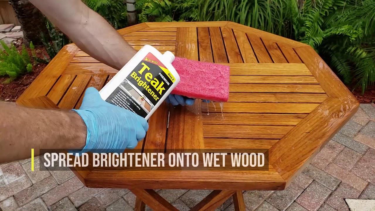 teak oil outdoor furniture restoration and application by star brite