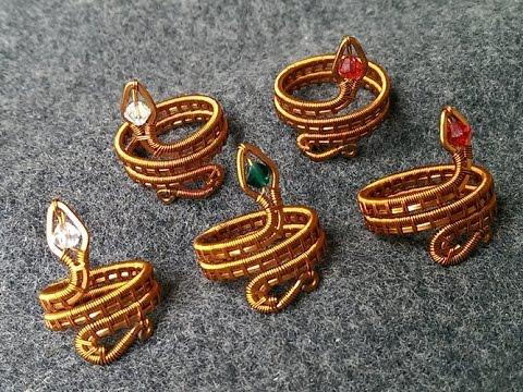 Wire snake ring - designer handmade jewelry  38