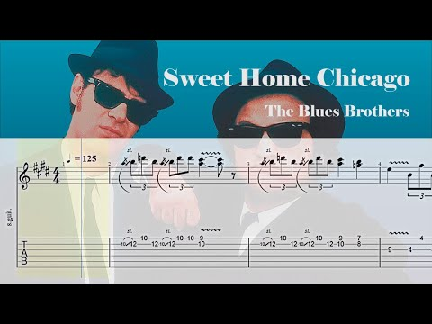Find out other track data such as harmonic matches and. Sweet Home Chicago The Blues Brothers Blues Guitar Tab Youtube