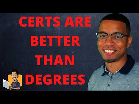 3 REASONS CERTIFICATIONS ARE BETTER THAN DEGREES  | IS COLLEGE WORTH IT?