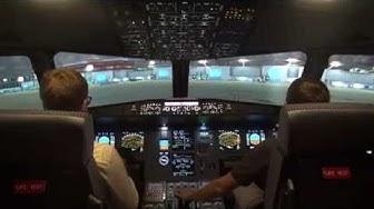Décollage de Genève en avion de ligne (HD)