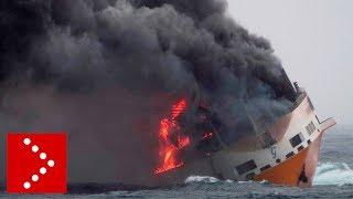 Affonda la nave Grimaldi Grande America al largo delle coste francesi