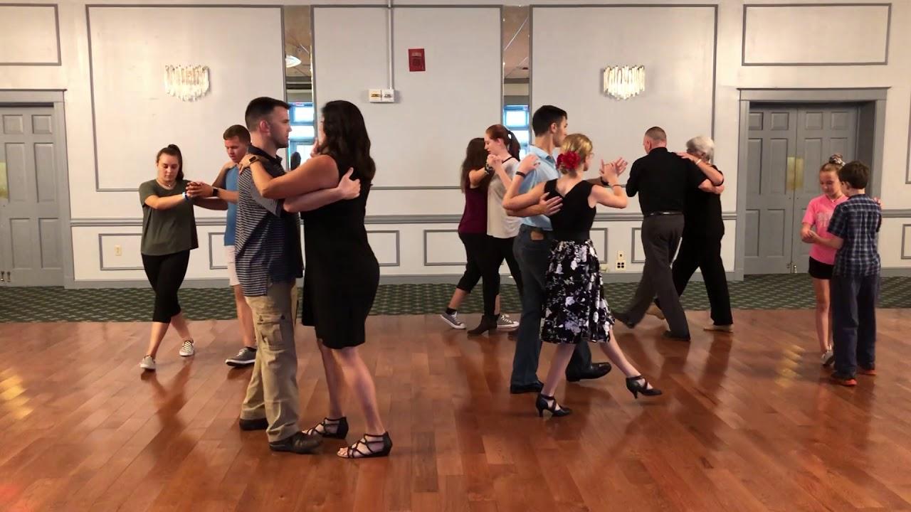 Tango Dance Basic Steps Demo - YouTube