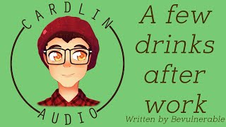 ASMR Roleplay: A few drinks after work [Coworker crush] [Flirty] [Bar] [Inner monologue]
