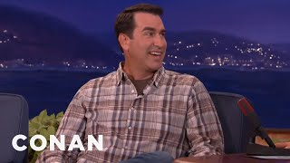 former marine rob riggle could kill conan andy very easily   conan on tbs