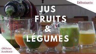 Recettes de Jus de légumes et de fruits pour débutants.