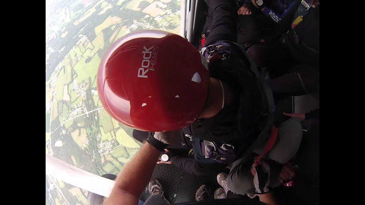 Saut en parachute en OA à Vannes, Bretagne