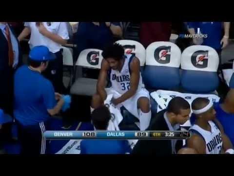 NBA Sean Williams Pukes On The Maverick Bench Vs Nuggets .. 12/26/2011
