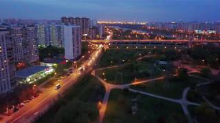 DJI Mavic Pro Ночной полет по Марьинскому парку и дальше!