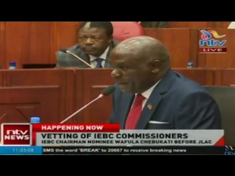 Vetting of IEBC commissioners