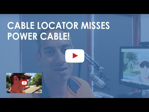 Cable locator misses power cable! A video many told us not to post, but we still did for you anyway