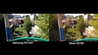 Samsung DV150f vs Nikon S3100 (Auto)