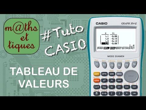 Fonctions Afficher Un Tableau De Valeurs Tutoriel Casio Youtube