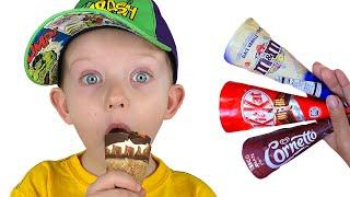 Delicious ice creams  Pretend Play Martin and Monica