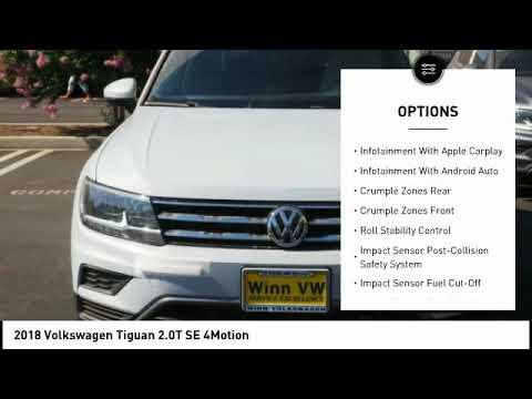 2018 Volkswagen Tiguan SE 4 motion Woodland Hills CA N1276