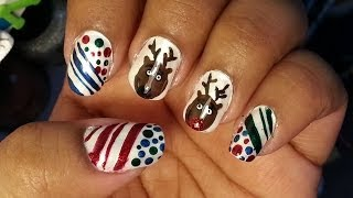 12 Days Of Christmas:rudolph-the Red Nose Reindeer Nails(day 11)