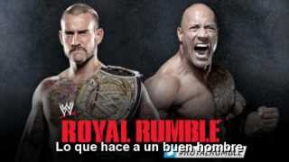"WWE: Tema Oficial Subtitulado del PPV Royal Rumble 2013-""What Makes a Good Man?""(+Cartelera)"