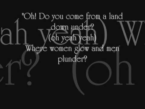 Men at work - land down under + lyrics ;)