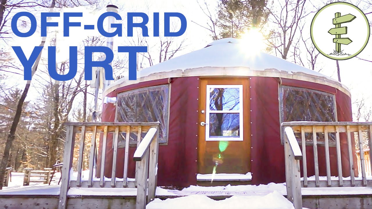 off grid yurt tour a tiny house alternative youtube. Black Bedroom Furniture Sets. Home Design Ideas