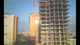 Строительство домов II очереди Квартала Европейский за сентябрь 2015г. (камера 1)