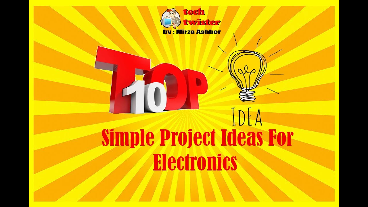Top 10 Simple electronics project idea - YouTube