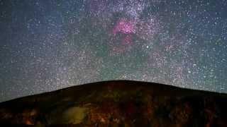 噴煙と北アメリカ星雲