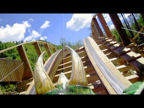 Roar-O-Saurus front seat on-ride HD POV Story Land