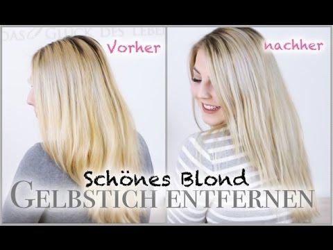 gelbstich entfernen schà ne blonde haare â youtube