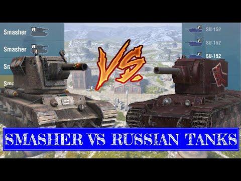 SMASHER SQUAD VS RUSSIAN MILITARY | World Of Tanks Blitz
