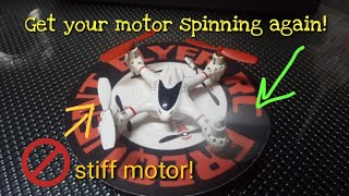 how to fix a stiff motor