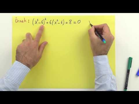 2. Dereceden denkleme dönüştürme 1 Şenol Hoca Matematik