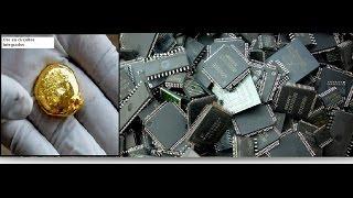 Como extraer ORO de circuitos integrados.(Chips).Gold extracting from integrated circuits.